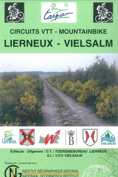 Map of mountain bike routes of the municipality of Lierneux