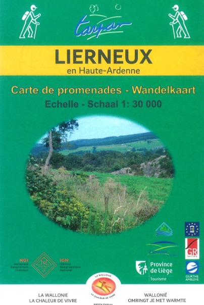 Map of walks of the municipality of Lierneux
